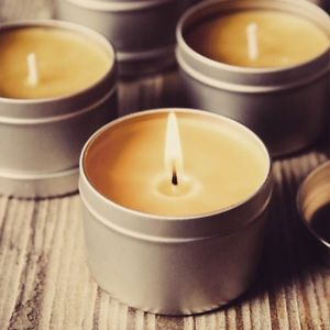 beeswax candle burnng
